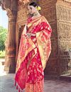 photo of Red Traditional Wear Silk Designer Weaving Work Saree With Heavy Blouse