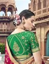 photo of Rani Color Silk Traditional Wear Designer Weaving Work Saree With Heavy Blouse