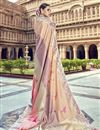 photo of Traditional Wear Silk Designer Chikoo Color Weaving Work Saree With Heavy Blouse