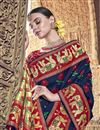 photo of Silk Traditional Wear Navy Blue Designer Weaving Work Saree With Heavy Blouse