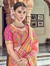 photo of Traditional Wear Silk Pink Designer Weaving Work Saree With Heavy Blouse