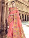 image of Traditional Wear Silk Pink Designer Weaving Work Saree With Heavy Blouse