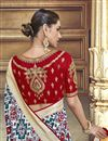 photo of Traditional Wear Silk Fabric Designer Weaving Work Saree With Fancy Blouse In Off White