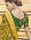 photo of Traditional Wear Silk Fabric Designer Yellow Weaving Work Saree With Fancy Blouse