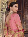 photo of Function Wear Art Silk Pink Weaving Work Saree With Heavy Blouse