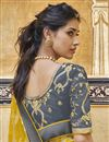 photo of Yellow Fancy Art Silk Function Wear Weaving Work Saree With Embroidered Blouse