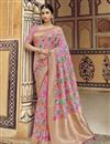 image of Pink Fancy Art Silk Function Wear Weaving Work Saree With Embroidered Blouse