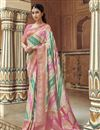 image of Eid Special Function Wear Trendy Art Silk Weaving Work Saree With Embroidered Blouse In Off White