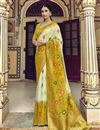 image of Function Wear Trendy Art Silk Weaving Work Saree With Embroidered Blouse In Off White