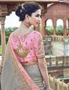 photo of Grey Art Silk Function Wear Saree With Fancy Blouse