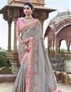 image of Grey Art Silk Function Wear Saree With Fancy Blouse
