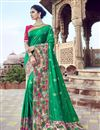 image of Art Silk Function Wear Green Saree With Fancy Blouse