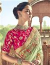 photo of Function Wear Art Silk Sea Green Color Saree With Fancy Blouse