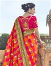 photo of Function Wear Red Art Silk Saree With Fancy Blouse