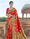 image of Function Wear Red Art Silk Saree With Fancy Blouse