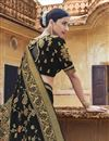 photo of Eid Special Black Silk Fabric Designer Function Wear Weaving Work Saree With Embroidered Blouse