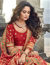 picture of Beige Function Wear Traditional Embroidered Lehenga In Art Silk Fabric