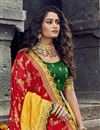 picture of Traditional Embroidered Yellow Function Wear Art Silk Fabric Lehenga Choli