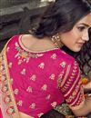 photo of Eid Special Function Wear Art Silk Fabric Embroidered Rani Color Traditional Lehenga Choli