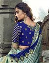 photo of Eid Special Function Wear Art Silk Fabric Embroidered Cyan Traditional Lehenga Choli
