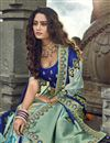 picture of Eid Special Function Wear Art Silk Fabric Embroidered Cyan Traditional Lehenga Choli