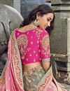 photo of Eid Special Art Silk Fabric Function Wear Traditional Embroidered Grey Lehenga