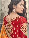 photo of Art Silk Fabric Function Wear Traditional Embroidered Lehenga In Orange