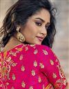 photo of Eid Special Art Silk Orange Traditional Sangeet Wear Designer Weaving Work Half-Half Saree