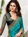 photo of Glimmering Teal And Black Color Embroidered Saree