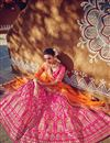 photo of Fancy Fabric Designer Bridal Lehenga Choli In Pink Color With Embroidery Work