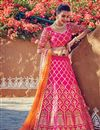image of Fancy Fabric Designer Bridal Lehenga Choli In Pink Color With Embroidery Work