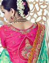 picture of Wedding Wear Green Color Designer Embroidered Satin Saree