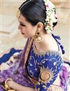 photo of Venerable Purple Color Designer Satin Embroidered Saree With Unstitched Blouse