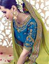 photo of Wedding Wear Green Color Designer Embroidered Satin Saree