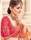 photo of Art Silk Orange Party Wear Saree With Embroidery Designs With Border