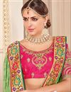 photo of Green Embroidery Work On Festive Wear Saree In Art Silk With Border