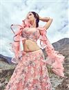 photo of Eid Special Net Fabric Designer Lehenga With Embroidery Designs And Enigmatic Blouse