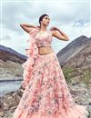 image of Eid Special Net Fabric Designer Lehenga With Embroidery Designs And Enigmatic Blouse