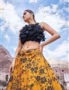 photo of Eid Special Net Fabric Orange Reception Wear Lehenga Choli With Embroidery Work