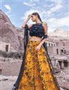 image of Eid Special Net Fabric Orange Reception Wear Lehenga Choli With Embroidery Work