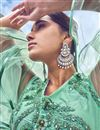 photo of Eid Special Light Turquoise Net Fabric Wedding Wear 3 Piece Lehenga Choli With Embroidery Work