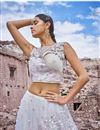 photo of Eid Special Embroidered Wedding Wear Lehenga Choli In Net Fabric Off White