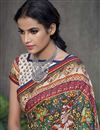 photo of Art Silk Multi Color Designer Saree With Digital Print Work