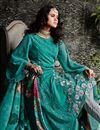 picture of Teal Embroidery Work On Georgette Stylish Salwar Kameez