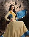 photo of Ready To Ship Georgette Beige Embroidered Fancy Anarkali Dress