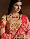 photo of Embroidery Designs Pink Fancy Occasion Wear Saree In Georgette