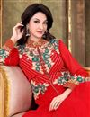 photo of Saumya Tandon Red Color Party Wear Suit