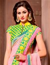photo of Georgette Fabric Party Wear Designer Saree in Pink Color