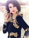 photo of Party Wear Black Color Georgette Embroidered Designer Salwar Kameez