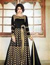 image of Party Wear Black Color Georgette Embroidered Designer Salwar Kameez